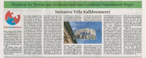 Quelle: Initiative Villa Kalkbrennerei, Ostsee-Anzeiger, 26.10.2016